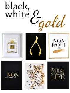 Black, White  and Gold Prints
