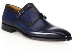 Saks Fifth Avenue Collection Saks Fifth Avenue by Magnanni Double Monk S-Strap Dress Shoes