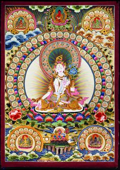 White Tara - Compassionate Buddha of Life Vajrayana Buddhism, Buddhist Symbols, Thangka Painting, Buddhist Traditions, Tibetan Art, Buddha Art, Mystique, Visionary Art, Sacred Art