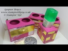 Tombow station for your desk using Painted with Love DSP Stampin' Up! - YouTube