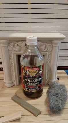 tip: age miniature wood with apple cider vinegar/steel wool mixture.