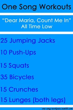 One song workouts - works to any song
