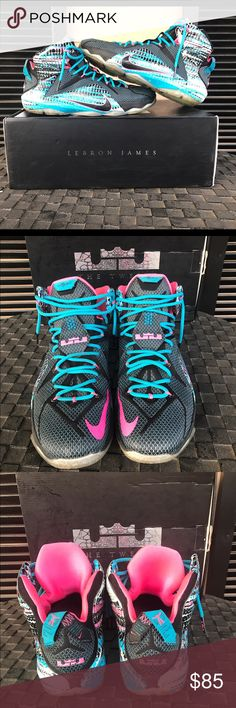 LeBron 12 23 Chromosome(Cotton Candy) Had for a couple of years but am starting to grow out of basketball shoes and hype overall. Decent shape, original laces, yellowing soles but nothing crazy, no creasing because the shoe is mostly mesh, great spring summer ball shoe. Comes with OG box. Air Jordan Shoes Sneakers