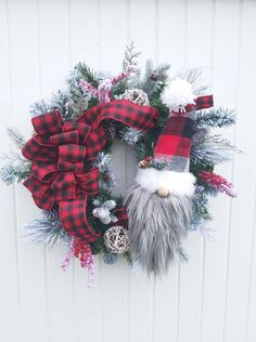 Buffalo check decor Country Christmas, Country Christmas Wreath, Gnome Christmas Wreath, Christmas D Christmas Gnome, Country Christmas, Christmas Ornaments, Merry Christmas, Plaid Christmas, Christmas Projects, Holiday Wreaths, Winter Wreaths, Diy Wreath