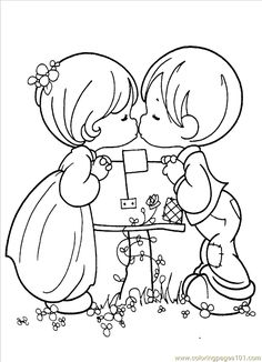 Coloring Pages Precious Moments 1 (4) (Cartoons > Precious moments) - free printable coloring page online
