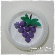 Egg Carton Grapes « Craft From Recycled Materials « Crafty-Crafted.com
