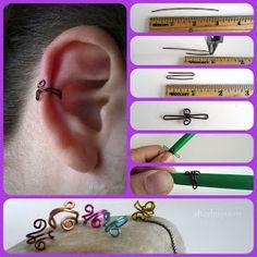 the ear (DIY Fake Earrings) - Get the Kika tip . - Behind the ear (DIY fake earrings) – get the kika tip …, -Behind the ear (DIY Fake Earrings) - Get the Kika tip . - Behind the ear (DIY fake earrings) – get the kika tip …, - Diy Jewelry Rings, Diy Jewelry Unique, Ear Jewelry, Diy Jewelry Making, Jewelry Crafts, Fine Jewelry, Jewellery, Amber Jewelry, Skull Jewelry