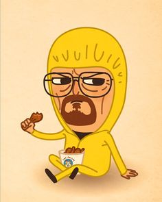 Walter White / Breaking Bad by Mike Mitchell Walter White, Character Illustration, Illustration Art, Cross Eyed Cat, Breaking Bad Art, Mike Mitchell, Bad Memes, Cultura Pop, Cute Characters