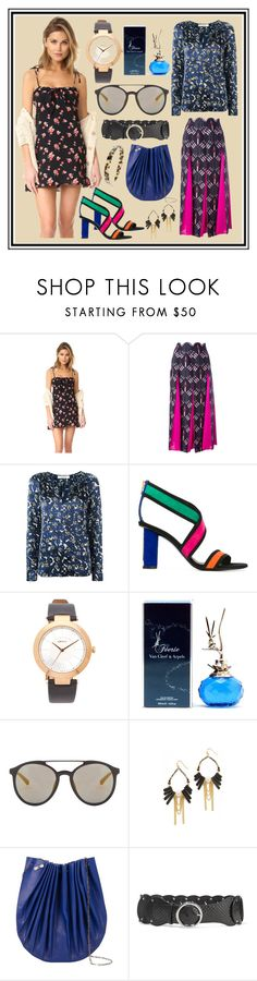 """""""Vibrate The New Fashion Show"""" by cate-jennifer ❤ liked on Polyvore featuring For Love & Lemons, Valentino, Dorothee Schumacher, Balmain, DKNY, Van Cleef & Arpels, 3.1 Phillip Lim, NAKAMOL, M.A+ and Emilio Pucci"""