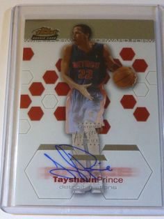 2002-2003 Topps Finest TAYSHAUN PRINCE Auto Graph Rookie Card RC #513/999 UK #DetroitPistons