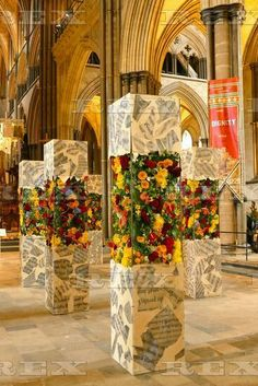 Magna Flora Flower Festival at Salisbury Cathedral, Wiltshire, Britain - 16 Sep 2015  Magna Flora blooms inside Salisbury Cathedral 16 Sep 2015