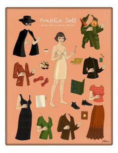 amelie paper doll! love!