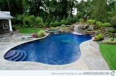 15 Swimming Pool Decks with Stone and Pavers