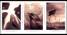 Corvid Triptych - Digital Crow Art, Triptych, Fantasy Art, Wildlife, The Incredibles, Deviantart, Explore, Digital, Artwork