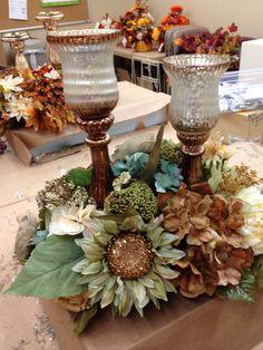 Fall candle arrangement