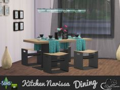 The Sims Resource: Dining Narissa by BuffSumm • Sims 4 Downloads