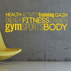 Gym, Workout, Healthy, Body, LARGE WALL STICKER, Decal, WallArt, SS1714
