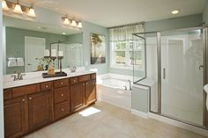 Pulte Homes, Hidden Bluffs in West Bloomington. Master Suite Bathroom, Master Bath, Pulte Homes, Next At Home, Home Bedroom, New Construction, Innovation Design, Building A House, Interior Decorating