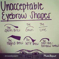 Eyebrows gone wrong