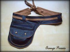Ceinture sacoche modèle mixte, en jean