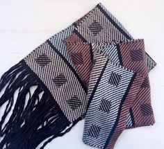 Handwoven Silk Scarf in Pinks and Grey by LoomLakeDesigns on Etsy, $95.00