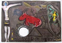 Marc Chagall:  La Nativité  &  Le village  2 Farblithographien 1950 Weihnachten