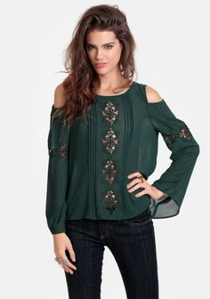 Say It Ain't So Crocheted Cutout Blouse #threadsence #fashion