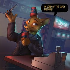 NITW fanart - Lord of the Snack Falcon Greggory Lee