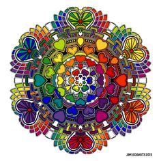 Me gusta la vibración de este dibujo, ya que sus colores son del arco iris.