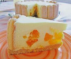 Zutaten 2 Dose/n Mandarine(n) 1 Pkt.Götterspeise, (Zitrone) 1/2 LiterSahne 80 g Zucker 200 gFrischkäse 400 gLöffelbi...
