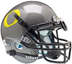 Oregon Ducks Authentic Schutt XP Full Size Helmet - Carbon Fiber