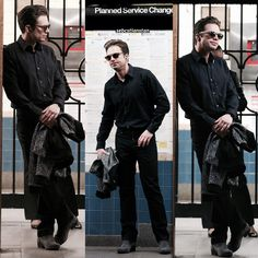 ⠀  → 11th October 2016, Sebastian seen waiting for a train in downtown Manhattan subway.  —  A BLESSED DAY, honestly just f*ck me (lol sorry not sorry)