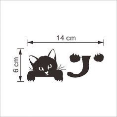 2016 New Cat Wall Stickers Light Switch Decor Decals Art Mural Baby Nursery Room vinilo pegatina pared Smile Kids Room Wall Stickers, Cheap Wall Stickers, Removable Wall Stickers, Cat Stickers, Wall Decals, Floor Stickers, Window Stickers, Funny Cute Cats, Diy Funny