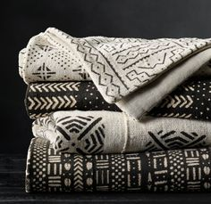 RH's Handwoven African Mud Cloth Throw:Handcrafted from authentic West African… African Interior, African Home Decor, African Textiles, African Fabric, African Rugs, African Prints, Tribal Decor, Tribal Patterns, African Patterns