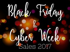 Black Friday and Cyb