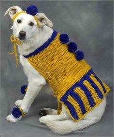 large dog sweater crochet pattern : Large Dog Sweater Crochet Pattern