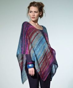 This easy knit poncho pattern is the perfect layering piece for any outfit.