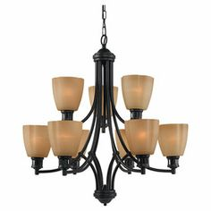 Sea Gull Lighting�9-Light Century Heirloom Bronze Chandelier