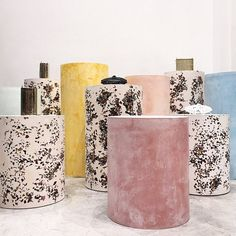 """DOVER STREET MARKET, New York, """"New bag brand ANNDRA NEEN on furniture by artist Samuel Amoia using precious stones from Brazil"""", pinned by Ton van der Veer"""