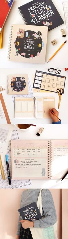 Let the Monster Study Planner bring out the study beast in you! Destroy your upcoming tests & homework assignments with help from cute, encouraging monster pals. This is a must-have scheduler for students of every level of education! With over 190 pages and 20 different special features, optimize & individualize your study habits to help you succeed! Organize your study plans weeks in advance so you don't miss any important projects and quizzes. This is by far the most fun and uniq