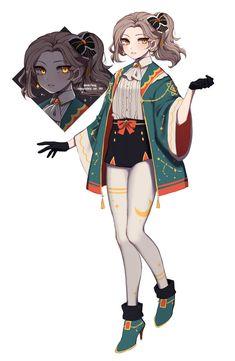 Anime Girl Dress, Manga Anime Girl, Anime Oc, Kawaii Anime Girl, Female Character Design, Character Design Inspiration, Character Concept, Character Art, Girls Characters