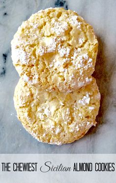 Chewy Sicilian Almond Cookies-