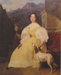 """Portrait of Mme Eva Hanska. """"Sunday 19th My beloved angel,I am nearly mad about you, as much as one can be mad: I cannot bring together two ideas that you do not interpose yourself between them.I can no longer think of anything but you. In spite of myself, my imagination carries me to you. I grasp you, I kiss you, I caress you, a thousand of the most amorous caresses take possession of me.As for my heart, there you will always be - very much so. I have a delicious sense of you there. But…"""
