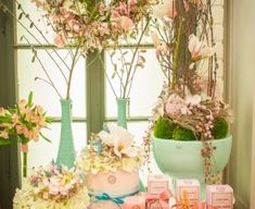 Glass Vase, Pastel, Spring, Plants, Home Decor, Cake, Decoration Home, Room Decor, Plant