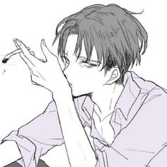 Levi look so cool with cigarette