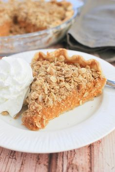 Sweet Potato Pie with Streusel Topping -