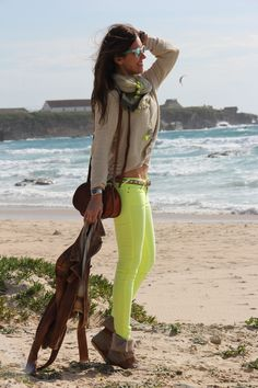 bien star in tarifa at the beach | mytenida en stylelovely.com                                                                                                                                                                                 Más