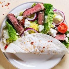 Grilled Steak and Feta Wrap