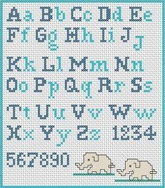 Have you decided to cross-stitch the school apron for your child? Did you find a cross-stitch alphabet pattern? If you are looking for an embroidery pattern with simple cross stitch letters, I suggest you to register now at www. Cross Stitch Letter Patterns, Cross Stitch Letters, Cross Stitch Baby, Cross Stitch Charts, Cross Stitch Designs, Stitch Patterns, Cross Stitch Numbers, Cross Stitch Font, Embroidery Alphabet