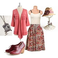 Breastfeeding style- pink garden, created by aswornell on Polyvore